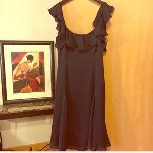 LAUREN RALPH LAUREN Silk Black Dress